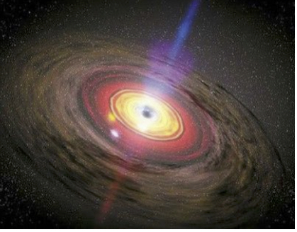 Artist's rendition of accretion disk surrounding a supermassive black hole